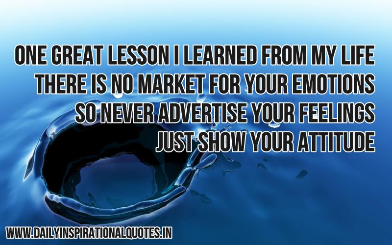 one great lesson i learned from my life life quotes