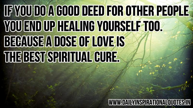 Religious Motivational Quotes Impressive If You Do A Good Deed For Other. Spiritual Quotes   Daily