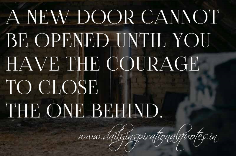 Quotes About Closing A Door 63