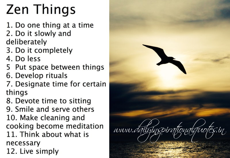 living zen this list kind of reminds to yourself