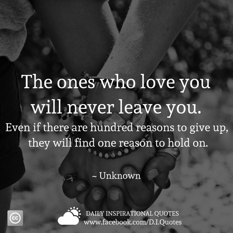 Never Leave You Tamil Quote: The Ones Who Love You Will Never Leave You. Even If There