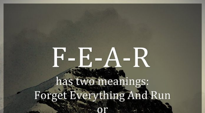 F-E-A-R has two meanings: Forget Everything And Run or Face Everything And Rise. The choice is yours. - Zig Ziglar