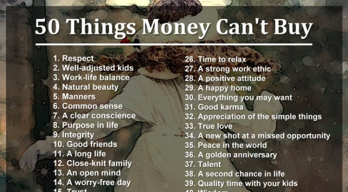 50 Things Money Can't Buy