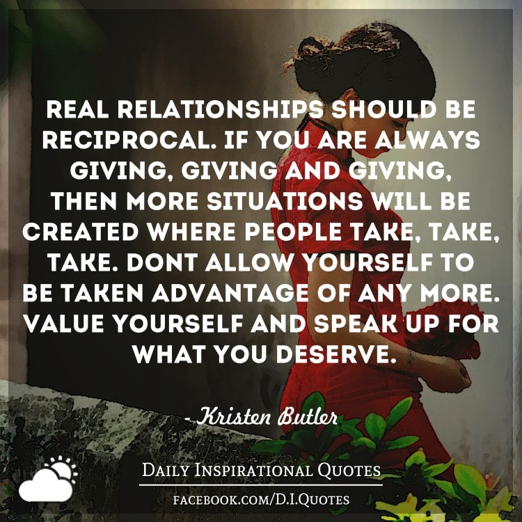 relationship should be give and take definition